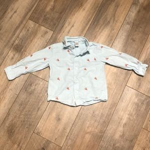Embroidered Lobster Woven Shirt 3T